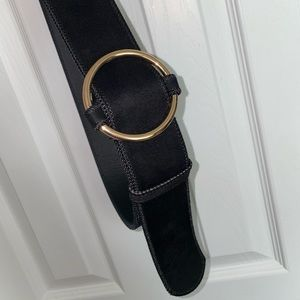 Black Belt with Gold Hardware Accents